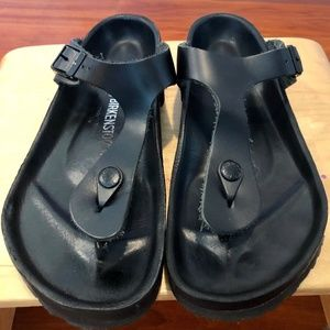 BIRKENSTOCK Gizeh Exquisit ALL LEATHER Black 39